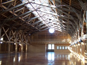 fair barn interior empty 2