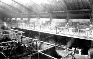 old interior fair barn