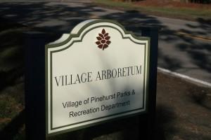 Village Arboretum sign