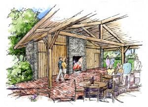 pavilion rendering interior