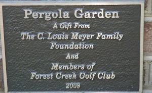 Pergola Garden Plaque
